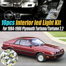 10Pc Car Interior LED White Light Bulb Kit for 1984-1986 Plymouth Turismo/2.2