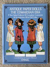 Antique Paper Dolls The Edwardian ERA, 8 Dolls 32 Costumes Full Color