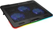 KLIM Aurora Laptop Cooling Pad Stand, RGB, Aluminum, 11