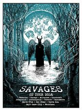 Large Savages US Tour Poster 2016 Limited Signed Numbered Edition Silkscreen
