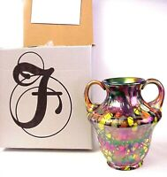Fenton Dave Fetty Myriad Mosaic Vase George Fenton Sig Centennial Collection MIB