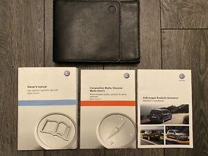 VW VOLKSWAGEN GOLF HANDBOOK OWNERS MANUAL & WALLET 2013-2016 MARK 7 5G GTI GTE D