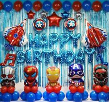 48 Pcs Avengers Birthday Party Supplies Decorations Superhero Balloons Set  U.S