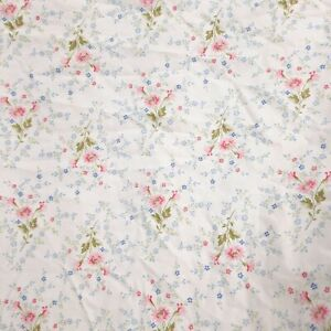 Ralph Lauren Cottage Chic Fitted Sheet Queen Pink Blue Green Mini Floral White
