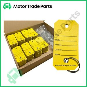 key Tags x 1000 Reinforced Paper with Rings  - For Car Dealers and Mechanics