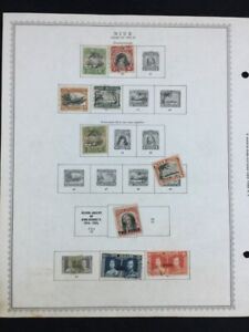 TCStamps Look! 4X Beautiful Very OLD! Pages NIUE Postage Stamps 246 #410
