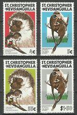 St Christophe & Niévès Cercopithecus Aethiops Singes Vert Monkeys Affen ** 1978