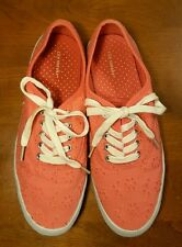 Girl's City Sneaks Pink Lace Casual Lace Up Tennis Shoes Size 6.5