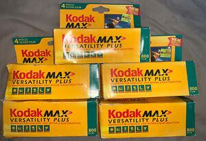 Kodak 5x 35MM Max 800 Versatility Plus 4 Rolls,Sealed Box Exp. 2003 20 Total Rol