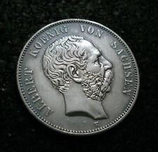 5 Mark - Sachsen - 1876 - E - König Albert - Echte alte Münze - Erhaltung -