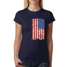 Bandiera Degli Stati Uniti Patriota Donna T-shirt XS-3XL