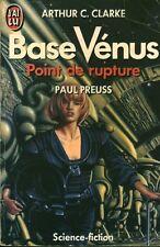 Livre Arthur C. Clark base vénus point de rup book