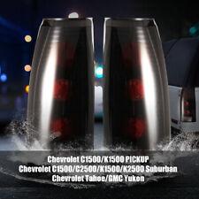 Tail Lights for 88-98 Chevy GMC C/K 95-00 Tahoe Rear Lamp Black Smoke Pair
