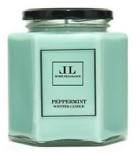 Peppermint Fresh Scented Candle, Essential Oil Luxury Soy Wax Candles