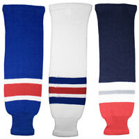 New York Rangers Knitted Classic Hockey Socks - Royal White