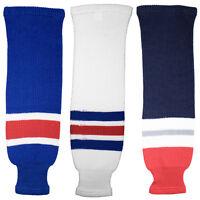 New York Rangers Knitted Classic Hockey Socks - Navy Royal White