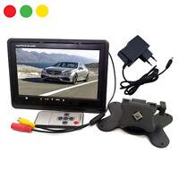 """MONITOR LCD 7"""" POLLICI TFT TV AUTO CAMPER POGGIATESTA A COLORI BASE STAND"""
