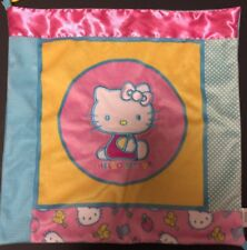 Sanrio Hello Kitty Plush Baby Lovey Pink Turquoise Security Mini Blanket Teether