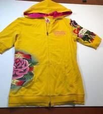 ED HARDY INTIMATES Style 8009-LMD ( GIRLS JUNIOR SMALL ) Full Zip Gold Hoodie