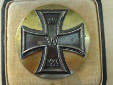 Original Eisernes Kreuz 1. Klasse im Etui, 1. Weltkrieg. Besondere gewölbte Ausf
