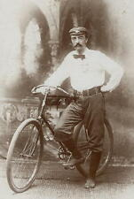 1890  Bicycle Cabinet Photo Philadelphia Pencil  Signed Heisely