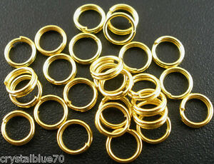 200 x Gold Plated Double Loop Split Rings 5mm, 6mm, 7mm, 8mm Findings