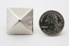 Giant 1-inch silver pyramid studs for clothing - Bag of 25 - StudsAndSpikes