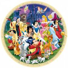 RAVENSBURGER ROUND DISNEY JIGSAW PUZZLE WONDERFUL WORLD OF DISNEY 1 - 1000 PCS