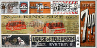 HO SCALE WEATHERED BUILDING GHOST SIGN DECALS #19a