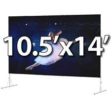 DA-LITE 88621HD - FAST-FOLD DELUXE 10.5'x14' COMPLETE KIT- DA-MAT FRONT- HD-LEGS