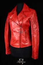 Abrigos y chaquetas de mujer motera/de cuero color principal rojo