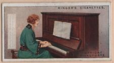 UprightPiano Stringed Musical Instrument 1920sTrade Ad Card