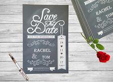 Save The Date Tarjetas Personalizadas X 50 weddding Pizarra Magnética A6 SD24