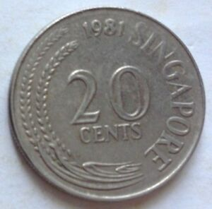 Singapore 1981 20 Cents coin