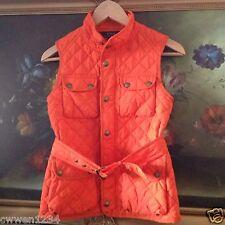 NWT Polo Ralph Lauren Girls Diamond-Quilted Orange Vest size XL (16)