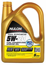 Box Of 3 Nulon Full Synthetic 5W20 Fuel Conserving Engine Oil 5L SYN5W20-5