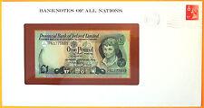 Northern Ireland  1979 - 1 Pound - Unc. Banknote enclosed in stamped envelope