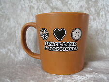 Peace Love & Happiness Coffee Mug by Agiftcorp Marco Island, Fl - Caramel Color