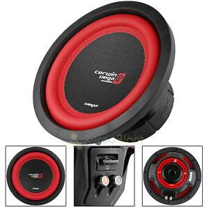 """10"""" Dual 4 Ohm Subwoofer 1100 Watts Car Audio Sub DVC Cerwin Vega V104DV2 Single"""