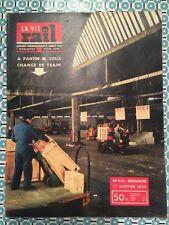 LA VIE DU RAIL n 430 17 Janv 1954 - Halle mécanisée transbordement Pantin Noisy