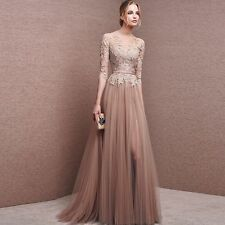 Lace Wedding Ball Gown Bridesmaid Dress Formal Evening Long Prom Dresses Party