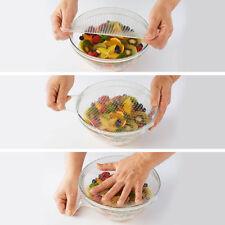 Set de 4 Tapas Herméticas Reutilizables Silicona Alimenticio Elástico Nuevo