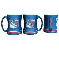 NY New York Rangers Coffee Mug Relief Sculpted Team Color Logo 14 oz NHL Blue
