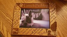 "New in Packaging  French Bulldog Wood Picture Frame Holds 8"" x 10"""