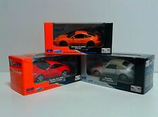 WELLY 1:34 Set of 3 Porsche 911 Carrera - Cabrio & 997 GT3 RS & 977 S Coupe