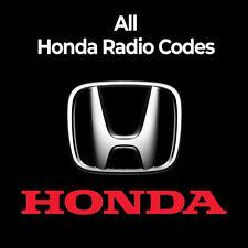 Honda Radio Code Stereo PIN Unlock Codes Fast Unlock Civic/CRV/Jazz/Accord