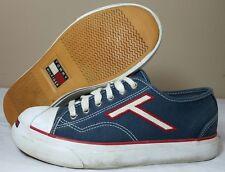 VTG Tommy Hilfiger Shoes Women 6.5M Canvas Sneakers Colorblock Flag 90's