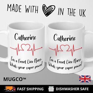 Personalised NHS Nurse Doctor Birthday Gift Mug Hero Friend Front Line