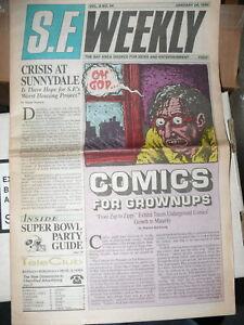 S.F. Weekly Vol. 8 #54  (Jan 24,1990)   VFN   Rare  R. Crumb