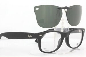 Custom Fit Polarized CLIP-ON Sunglasses For Ray-Ban 5184 52X18 RB5184 Rayban